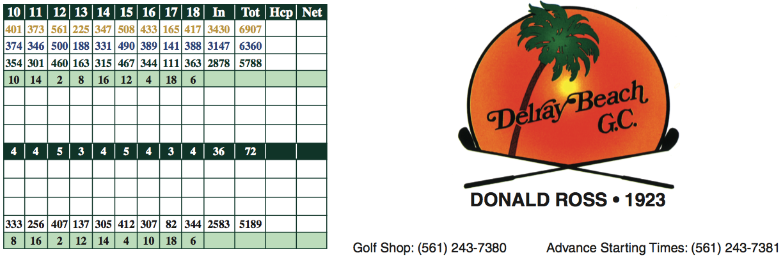 DBGC Score Card 1